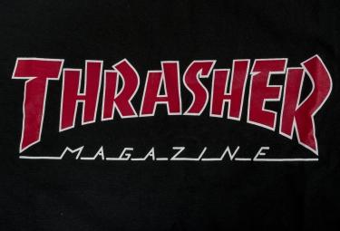 T-Shirt THRASHER OUTLINED Noir