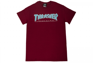 T-Shirt THRASHER OUTLINED Rouge