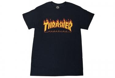 T-Shirt THRASHER FLAME LOGO Bleu