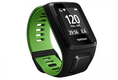 Montre GPS TOMTOM RUNNER 3 CARDIO + MUSIC Bracelet Fin Noir Vert