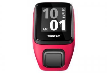 Montre GPS Tomtom RUNNER 3 CARDIO + MUSIC Bracelet Fin Orange / Rose