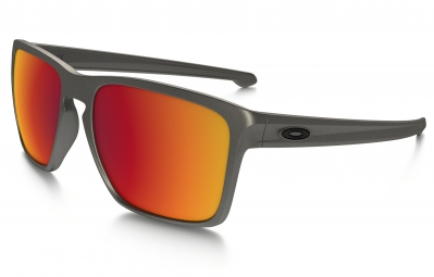 Lunettes OAKLEY SLIVER XL METALS COLLECTION Gris - Rouge Iridium Réf OO9341-08