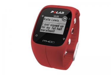 Montre GPS Polar M400 GPS HR Rouge