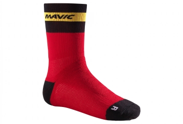 Chaussettes MAVIC Ksyrium Elite Thermo Rouge/Noir/Jaune