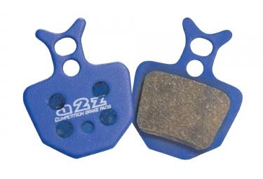 A2Z Paire de plaquettes organiques AZ-320A FORMULA ORO support Aluminium