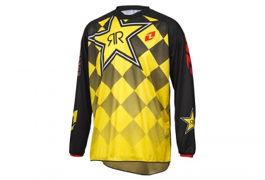 ONE INDUSTRIES Maillot Manches Longues ATOM ROCKSTAR Jaune Noir