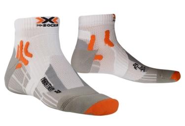 Paire de Chaussettes X-SOCKS MARATHON Blanc Orange