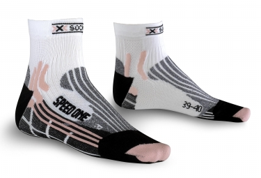 Paire de Chaussettes X-SOCKS SPEED ONE Blanc Rose