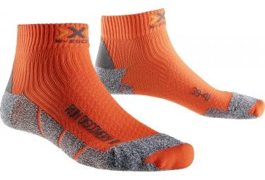 Paire de Chaussettes X-SOCKS RUN DISCOVERY v2 Gris Orange