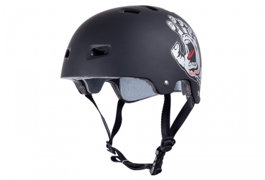 Casque Bol BULLET SANTA CRUZ SCREAMING HAND Noir Mat