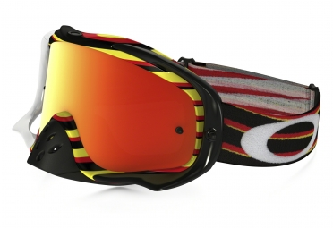 Masque OAKLEY Crowbar MX Rouge/Jaune Iridium OO7025-30