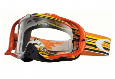 Masque OAKLEY Crowbar MX Glitch Orange/Jaune Transparant OO7025-24