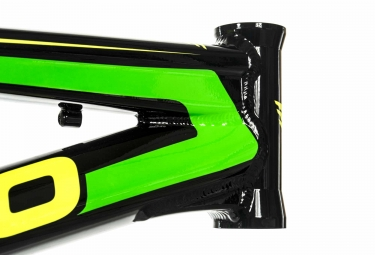 Cadre BMX Race MEYBO HOLESHOT Noir Jaune Vert