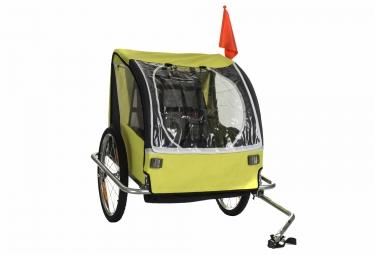 Remorque Vélo Enfant GNK 2 Places Jaune