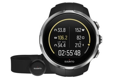 SUUNTO Montre GPS SPARTAN SPORT HR Noir + Ceinture Smart Sensor