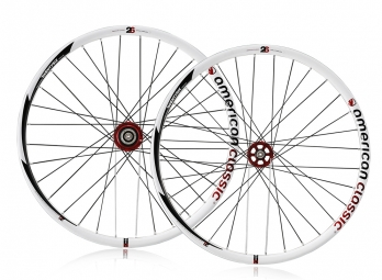 AMERICAN CLASSIC Paire de Roues MTB 26 Blanche Tubeless Disque 9mm