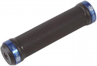 GUSSET Paire de Grips Noir Lock On Bleu