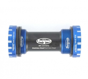 HOPE Boitier Roulements Externes Inox 68/73mm BLEU