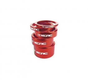 KCNC Kit Entretoises Direction Alu 1´´1/8 Rouge 3/5/10/14/20 mm