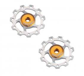 KCNC Paire de Galets de Dérailleur Light Silver