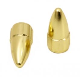 MSC Bouchons de Valve Aluminium Presta / Petite Valve Or (la Paire)
