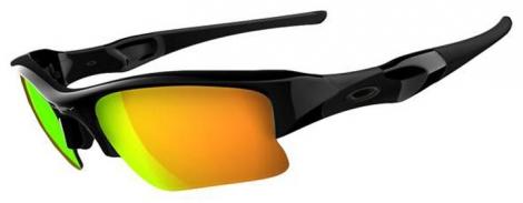OAKLEY lunettes Flak Jacket Polished Black/ Fire Iridium Ref 03-899