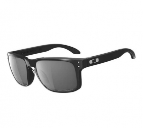 OAKLEY Lunettes Holbrook polished black / grey polarized Ref 9102-02
