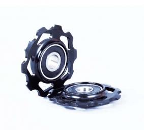 SB3 Galets de dérailleur anodisés pour shimano ou sram Noir X 2 / 10 Dts