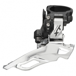 Shimano Derailleur Avant XT M786 Argent 2x10V Collier Haut 34.9/31.8mm