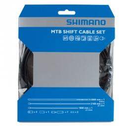 SHIMANO Kit Cables et Gaines TEFLON Dérailleurs VTT Noir