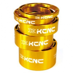KCNC Kit Entretoises Direction LIGHT Alu 1''1/8 Or 3/5/10/14/20 mm