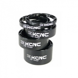 KCNC Kit Entretoises Direction LIGHT Alu 1''1/8 Noir 3/5/10/14/20 mm