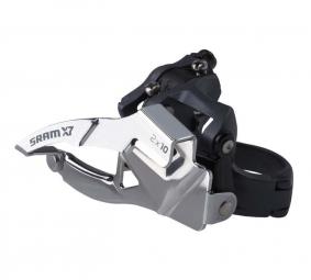 SRAM Dérailleur avant X7 2x10V Collier Bas 31.8/34.9mm Tirage Bas/Haut