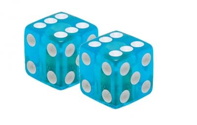 TRIKTOPZ Bouchons de Valves X 2 Dés Clear Blue