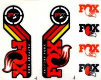 fox kit stickersheritage 2015 fork and rear shock orange Oferta en Alltricks