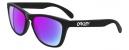 Oakley Frogskins Sunglasses - Matte Black / Purple 24-298