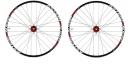 ASTERION Paire de roues ESP 26'' Axes 15mm et 12x142mm Rouge