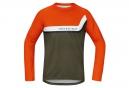 GORE BIKE WEAR Maillot Manches Longues POWER TRAIL Orange Marron