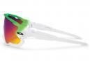Paire de Lunettes OAKLEY JAWBREAKER PRIZM ROAD Edition Olympique Vert/Blanc Ref : OO9290-15