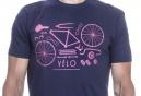 LeBram T-Shirt Velo Remix Bleu Marine Rose