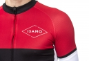 Maillot Manches Courtes ISANO GALIBIER Noir Rouge