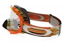 Masque Oakley Crowbar MX Glitch Gris Noir/Jaune/Orange