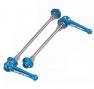 KCNC Blocages de Roues VTT Titane Bleu 44 gr